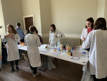 CDT students lead a practical activity at Science in the Park 2020